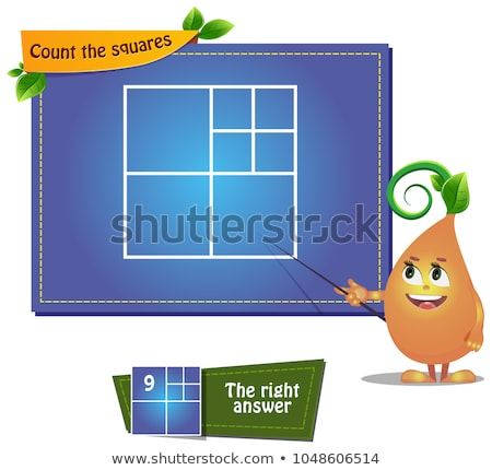 iq Count the squares Stock photo © Olena