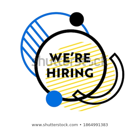 Vacancy announcement - flat design style colorful illustration Stock photo © Decorwithme