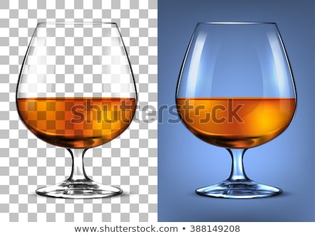 Foto stock: Glass of cognac or whiskey.