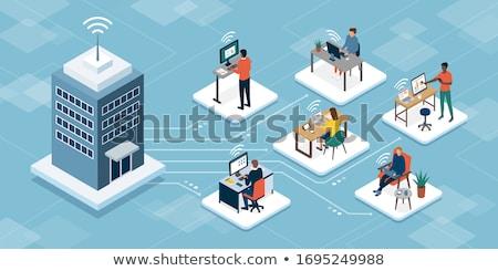 üzlet irodai asztal munka produktivitás munkaterület megbeszélés Stock fotó © Anneleven
