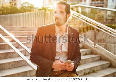 Fotografia zawartość człowiek 30s formalny garnitur Zdjęcia stock © deandrobot