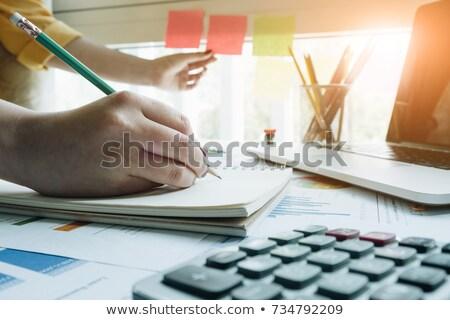 Calculator pen documenten financieren bank cash Stockfoto © Zerbor