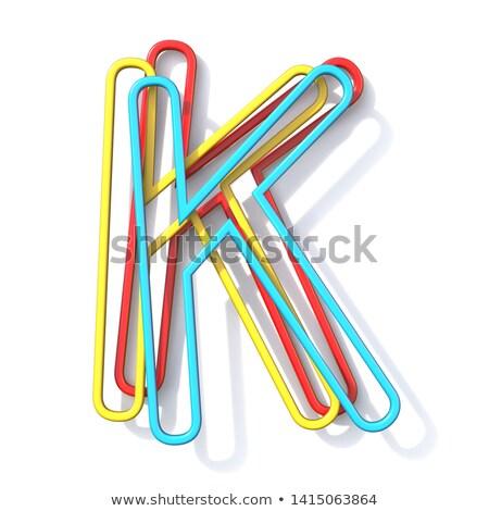 Drie fundamenteel kleur draad doopvont brief Stockfoto © djmilic