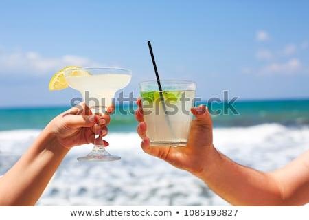 ver · duas · pessoas · praia · tropical · cópia · espaço · natureza · modelo - foto stock © andreypopov