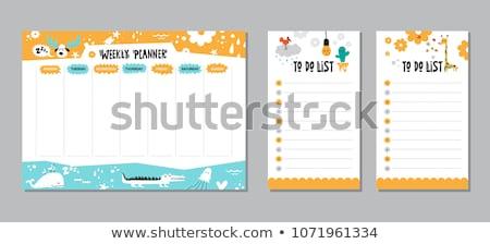 Cocodrilo nota plantilla ilustración cielo hierba Foto stock © bluering