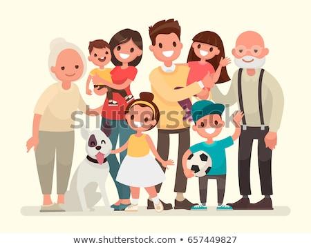 Kutyák rajz betűk nagyobb csoport illusztráció vicces Stock fotó © izakowski