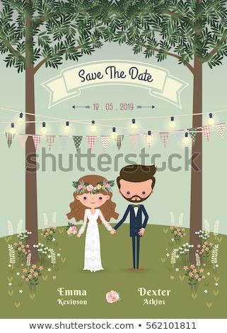 漫画 · 花嫁 · 抱擁 · 準備 · 与える · 愛 - ストックフォト © robuart