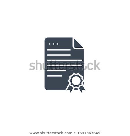 Diploma related vector glyph icon. Stock photo © smoki