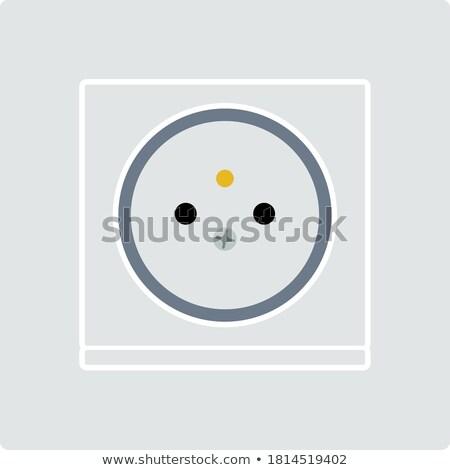 elektrik · soket · ikon · turuncu · siyah · teknoloji - stok fotoğraf © angelp