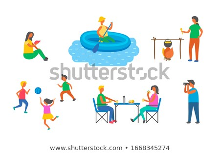 People on Picnic and Camping, Pastime Free Time Stock photo © robuart