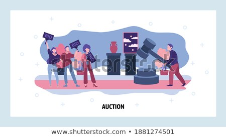 auction house concept landing page stock photo © rastudio