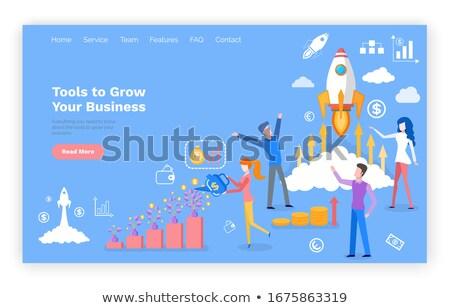 Сток-фото: инструменты · расти · бизнеса · инвестиции · сайт · вектора