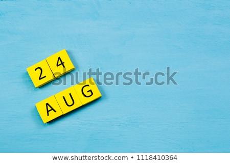 Calendario agosto rosso bianco icona Foto d'archivio © Oakozhan