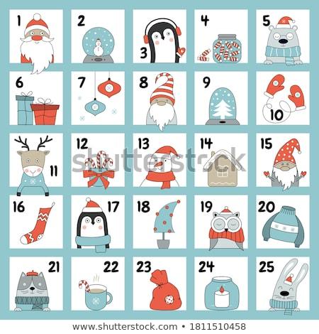 Avvento calendario Natale borse vettore set Foto d'archivio © beaubelle