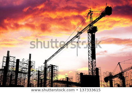 Property developer and construction worker creating project together Stock photo © Kzenon