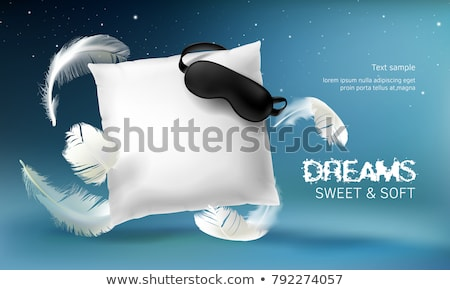 Textile Pillow For Comfortable Relax Sleep Vector Stock photo © pikepicture