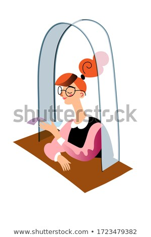 Woman at Shop Asking Advice of Consultant Vector Stock photo © robuart