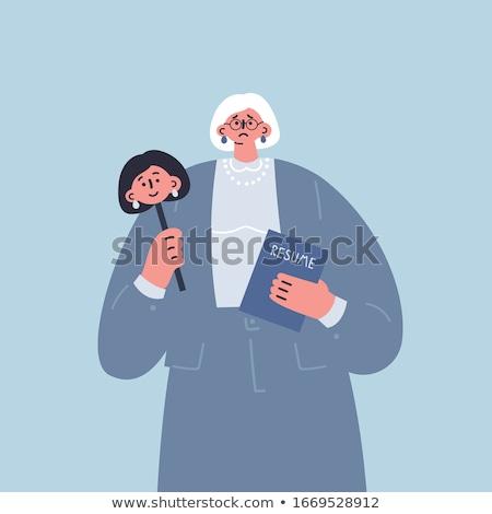 Social problema agência idade discriminação trabalho Foto stock © RAStudio