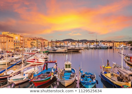 Saint Tropez. Luxury yachting harbor of Saint Tropez at Cote d A Stock photo © xbrchx