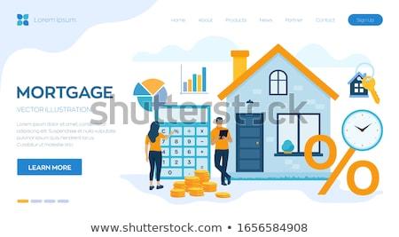 Mortgage loan concept vector illustration. Stock photo © RAStudio