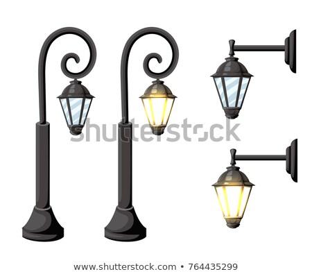 Modern lantern of street illumination Stock photo © nemalo