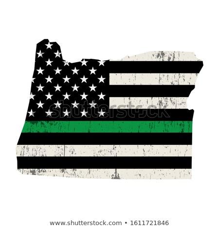 Oregon militar apoiar bandeira americana ilustração forma Foto stock © enterlinedesign