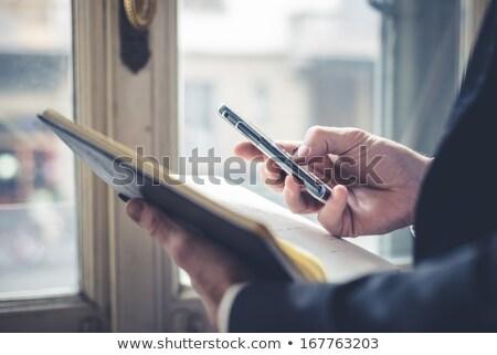 Hand schrijven nota dagboek pen Stockfoto © AndreyPopov