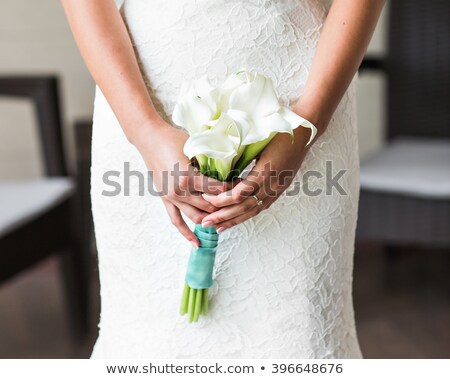 Romantic woman hold calla lily flower Stock photo © CandyboxPhoto