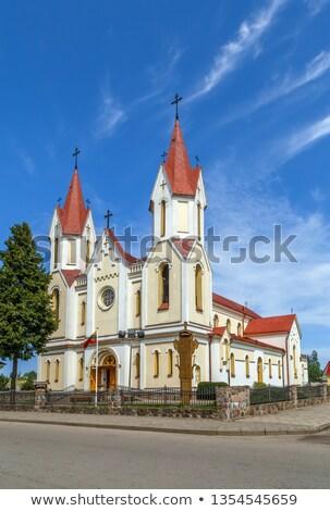 Kerk Litouwen alle boom stad reizen Stockfoto © borisb17