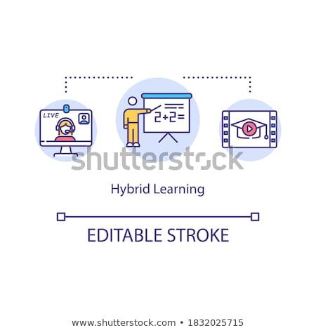 Blended learning vector concept metaphors. Stock photo © RAStudio