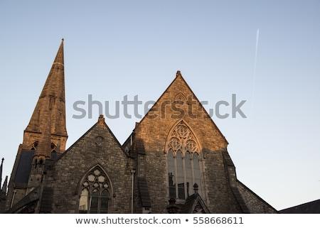 Templom Dublin Írország utca utazás városi Stock fotó © borisb17