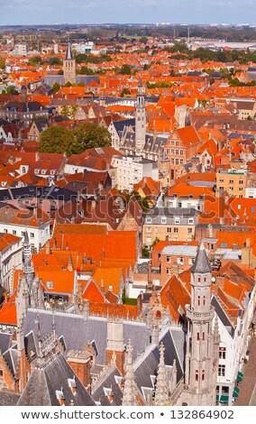 Aerial view of Bruges (Brugge), Belgium Stock photo © dmitry_rukhlenko