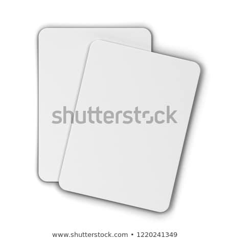 Iskambil kartları poker diğer oyunları 3d illustration yalıtılmış Stok fotoğraf © montego