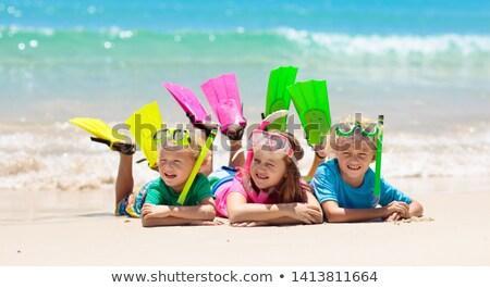 Estate spiaggia vacanze divertimento snorkel ragazza Foto d'archivio © Maridav