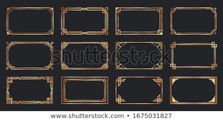 Art deco keret arany vonalak stílus esküvő Stock fotó © SArts