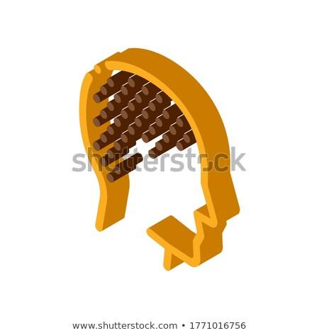 Kaal man isometrische icon vector teken Stockfoto © pikepicture