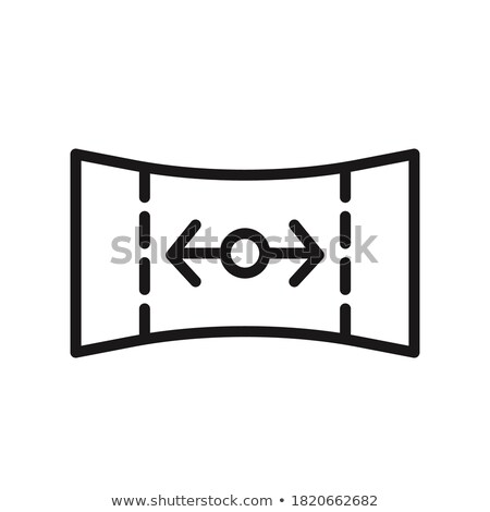 Panorama view mode outline icon. linear style sign for mobile concept and web design. Stock Vector i Stock photo © kyryloff