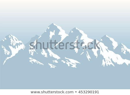 Landscape of snow-capped mountains Stock photo © bbbar