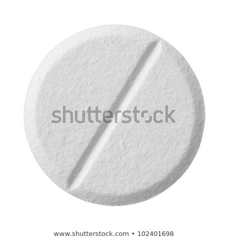 Comprimido aspirina isolado caminho branco Foto stock © Givaga