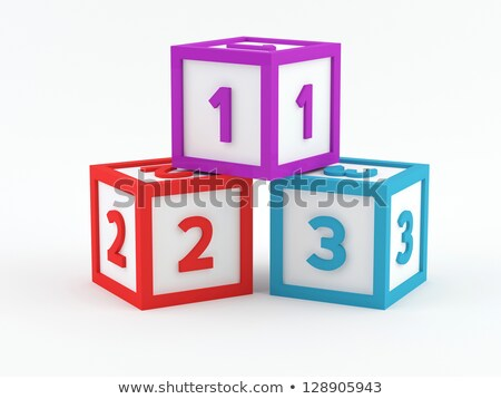 play blocks with 123 numbers stock photo © sielemann