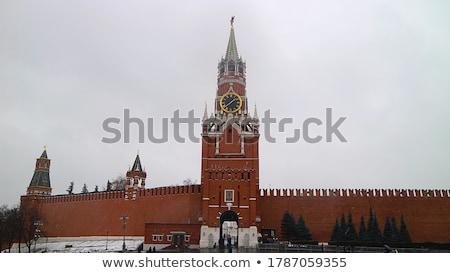 vermelho · praça · torres · russo · céu · urbano - foto stock © paha_l