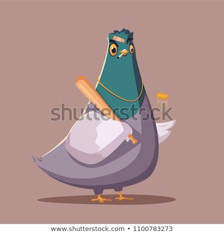 Vogel gangster geïsoleerd witte vector Stockfoto © RAStudio