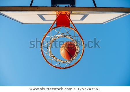 basketball hoop and ball Stock photo © ssuaphoto