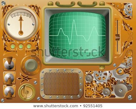 Steampunk grunge media speler stijl bedieningspaneel Stockfoto © Krisdog
