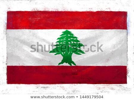 Grunge zászló Libanon öreg klasszikus grunge textúra Stock fotó © HypnoCreative