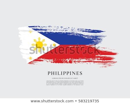 Grunge bandera Filipinas edad vintage textura grunge Foto stock © HypnoCreative