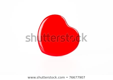 Red Heart box lean to right hand side Stock photo © pinkblue