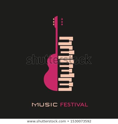 piano and guitar Stock photo © mariephoto