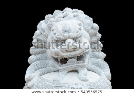 Chinois lion statue bâtiment ville dragon Photo stock © kawing921