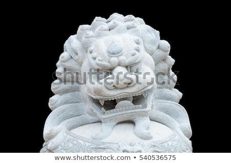 Chinese leeuw standbeeld gebouw stad draak Stockfoto © kawing921